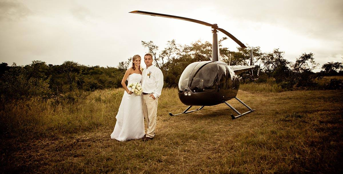 Wedding Day Charters by helicopter