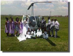 Weddings by helicopter