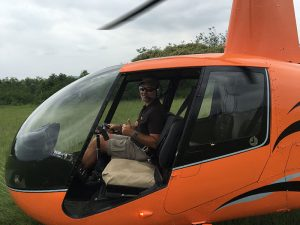 One of our Students on his initial Solo in the R44