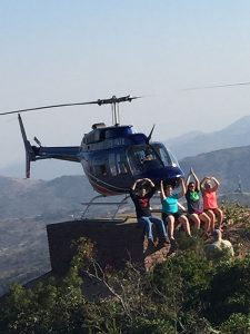 Ohio State university students on a scenic flight stop