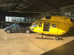 The BK 117 in our Nelspruit Helibase Ready for the next Film Shoot
